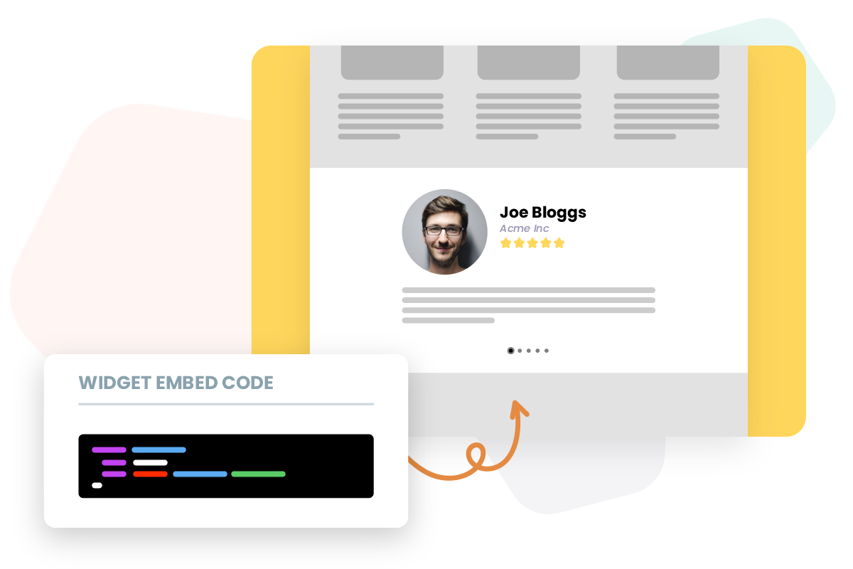 Embed review widgets on website
