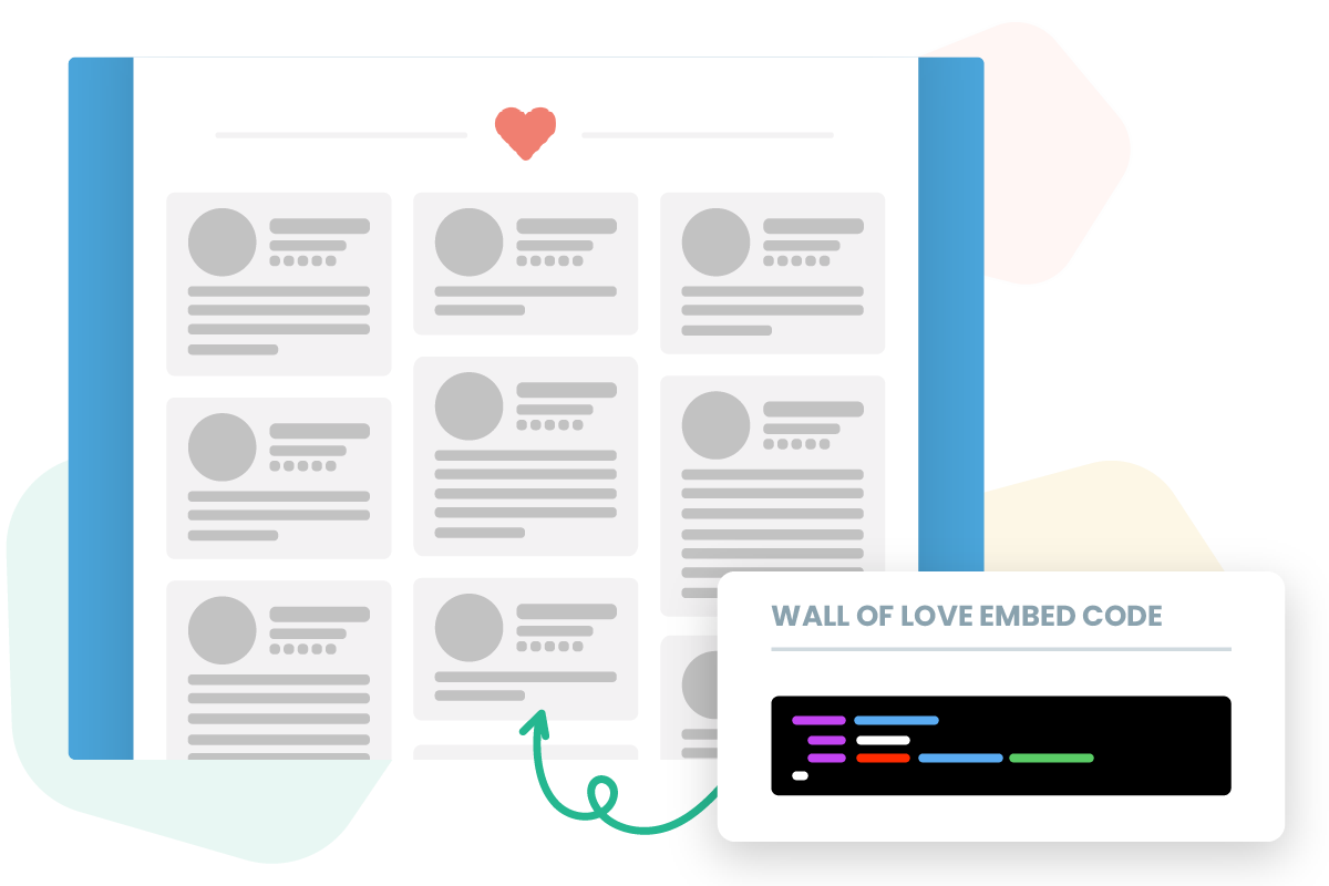 Embed Wall of Love on website